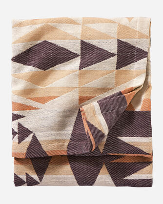 ALTERNATE VIEW OF CRESCENT BUTTE WOVEN THROW IN TAN MULTI