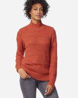 WOMEN'S TEXTURED SWEATER IN PICANTE