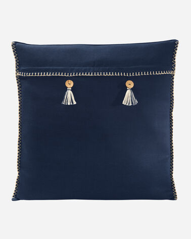 ADDITIONAL VIEW OF HARDING SQUARE PILLOW IN NAVY MULTI