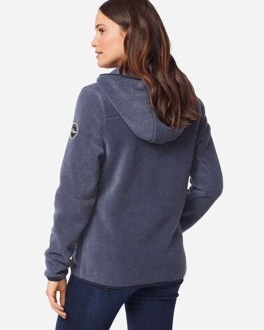 ADDITIONAL VIEW OF WOMEN'S FLEECE HOODIE IN NAVY HEATHER