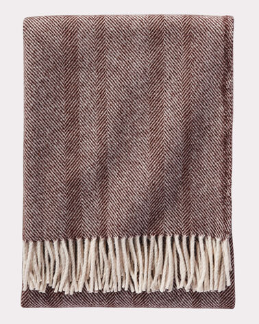 ECO-WISE WOOL HERRINGBONE THROW, , large