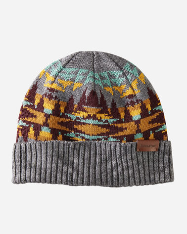 KNIT CAP IN CRESCENT BUTTE GREY