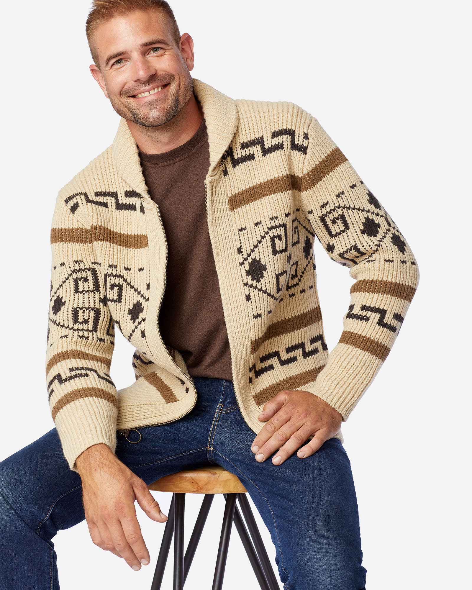 Pendleton Mens The Original Westerley Sweater Cardigan