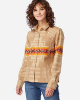 WOMEN'S JACQUARD LODGE SHIRT IN CHIEF JOSEPH TAN