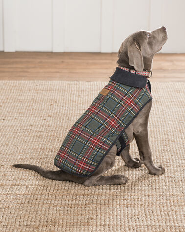 ADDITIONAL VIEW OF LARGE PLAID DOG COAT IN GREY STEWART