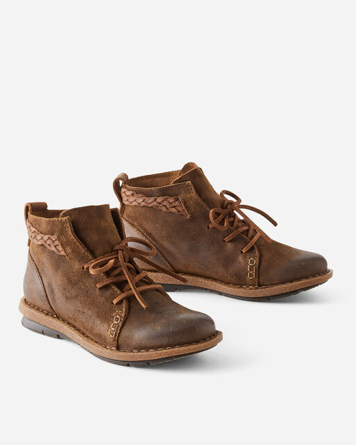 TEMPLE DISTRESSED LEATHER BOOTIES, , large