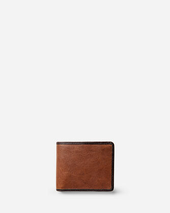 LEATHER BI-FOLD WALLET IN TAN