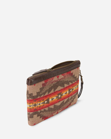 ALTERNATE VIEW OF SIERRA RIDGE WRISTLET WALLET IN TAN