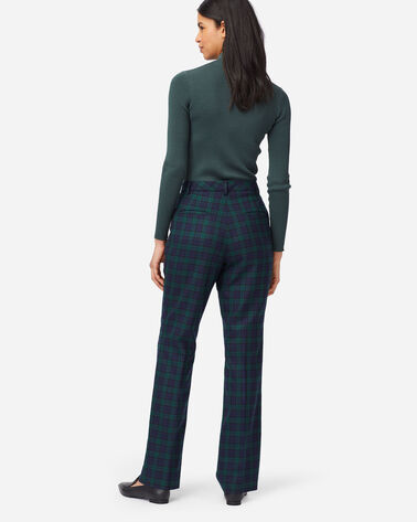 ALTERNATE VIEW OF WOMEN'S BLACK WATCH STRAIGHT LEG PANTS IN BLACK WATCH TARTAN