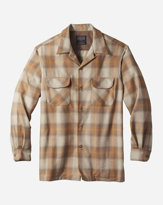 MEN'S BOARD SHIRT IN TAN/GOLD OMBRE