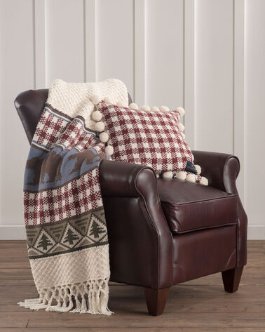 ADDITIONAL VIEW OF PINE LODGE KNIT THROW IN IVORY