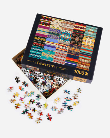 ALTERNATE VIEW OF ART OF PENDLETON PATCHWORK PUZZLE IN MULTI