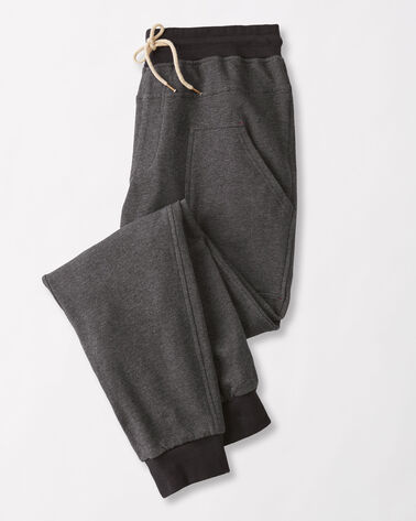FRENCH TERRY LOUNGE PANTS, CHARCOAL HEATHER, large
