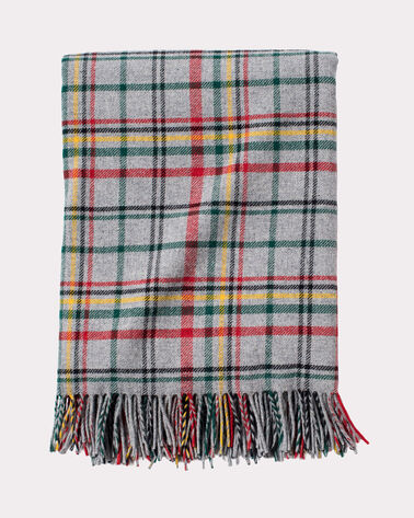 GLACIER PARK PLAID THROW, GREY GLACIER PLAID, large
