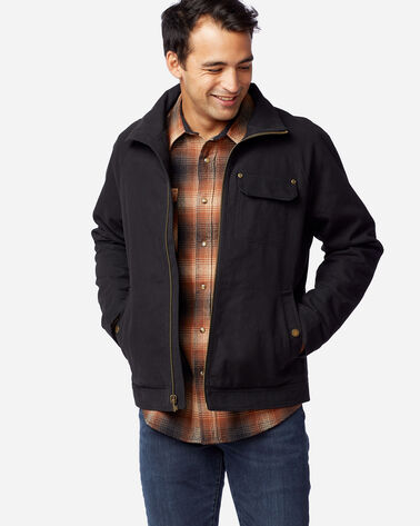 MEN'S LOST HORSE SHERPA-LINED JACKET IN BLACK