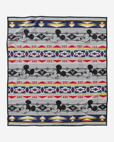 DISNEY'S MICKEY THROUGH THE YEARS BLANKE IN GRAY MULTI