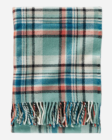 ECO-WISE WOOL FRINGED THROW