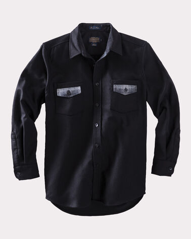 CONTRAST SHIRT, BLACK, large