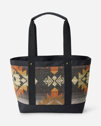 ALTERNATE VIEW OF ROCK CREEK ZIP TOTE IN CHARCOAL