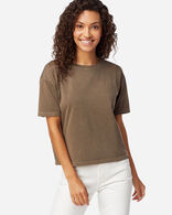 WOMEN'S CROPPED DESCHUTES TEE IN WALNUT