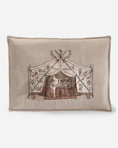BEAR APOTHECARY TENT PILLOW IN NATURAL LINEN