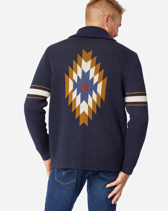 ALTERNATE VIEW OF MEN'S ARCHIVE COTTON CARDIGAN IN BLUE