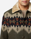ALTERNATE VIEW OF MEN'S BROWNSVILLE SHEARLING-COLLAR COAT IN OLIVE MIX SONORA