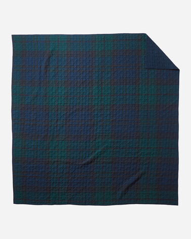 ADDITIONAL VIEW OF BLACK WATCH QUILT SET IN BLACKWATCH