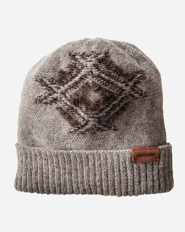 FRINGED BEANIE, BROWN, large