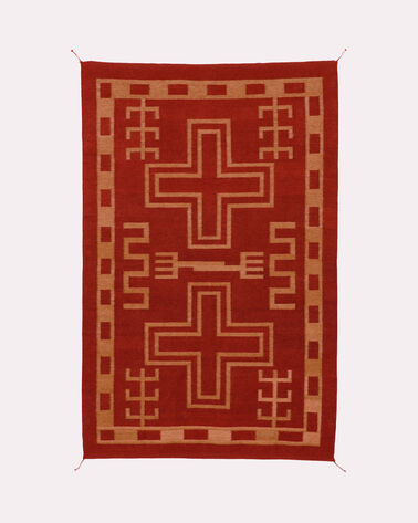 WILLIAMS RANCH RUG, RED/GOLD, large