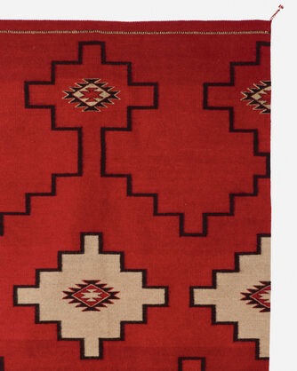 ADDITIONAL VIEW OF STEPS TO THE SKY RUG IN RED/BLACK