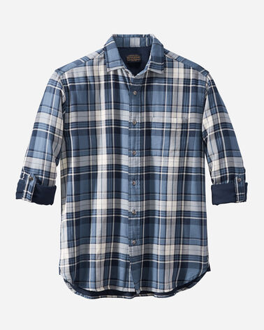 MEN'S FAIRBANKS DOUBLE-CLOTH SHIRT IN BLUE/NAVY PLAID
