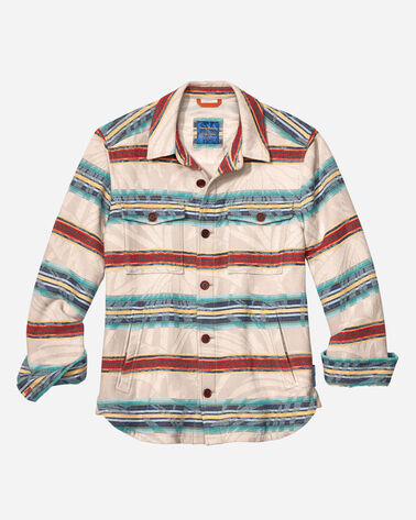 TOMMY BAHAMA & PENDLETON SHIRT JACKET, TWILL, large