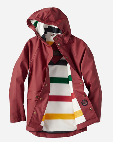 ADDITIONAL VIEW OF KIDS' LONG BEACH RAINCOAT IN RED