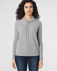 CASHMERE WEEKEND PULLOVER, SOFT GREY HEATHER, large