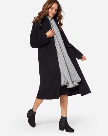 LONG WOOL COAT IN BLACK