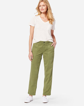 ADDITIONAL VIEW OF CHINO TWILL PANTS IN OLIVE