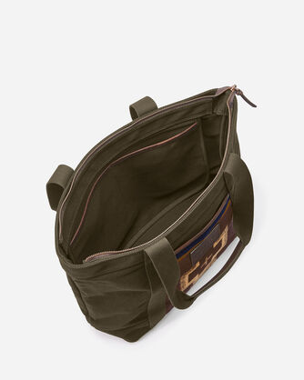 ADDITIONAL VIEW OF SHELTER BAY TOTE IN BROWN