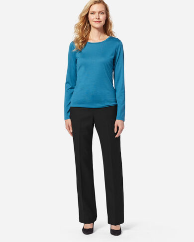 WOMEN'S WORSTED WOOL FLANNEL TRUE FIT TROUSERS