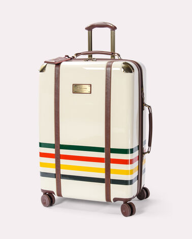 27-INCH GLACIER STRIPE SPINNER LUGGAGE, IVORY WHITE, large