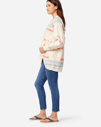 ALTERNATE VIEW OF WOMEN'S SUNRISE COCOON CARDIGAN IN ANTIQUE WHITE