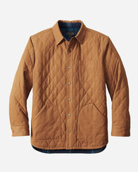 REVERSIBLE CANVAS JACKET, TAN/BLUE/TEAL OMBRE, large