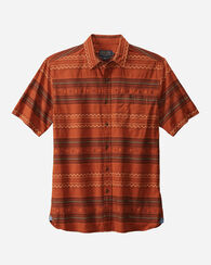 MEN'S FITTED KAY STREET STRIPE SHIRT, COPPER, large