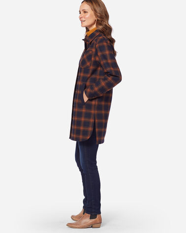 PENDLETON SIGNATURE FARGO DUSTER, COPPER PLAID, large
