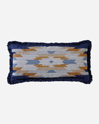 CHIEF STAR EMBROIDERED HUG PILLOW IN NAVY
