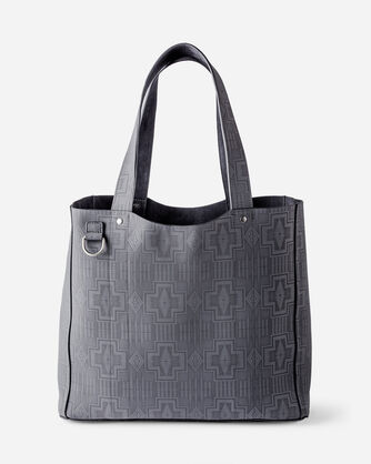 ADDITIONAL VIEW OF SUEDE REVERSIBLE TOTE IN GREY/CHARCOAL