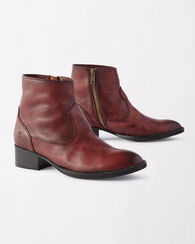 BROOKE SHORT BOOTIES, WINE, large