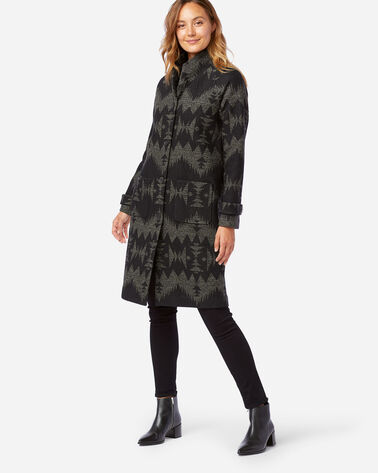 WOMEN'S SONORA ARCHIVE BLANKET COAT IN BLACK SONORA