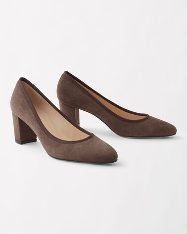CLASSIC SUEDE LOCKER PUMPS, MID-BROWN, large