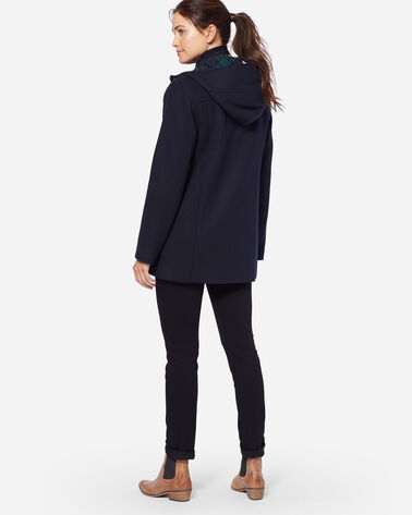 CLASSIC WOOL DUFFEL COAT, NAVY, large